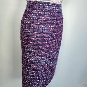 J. Crew high waist tweed wool pencil skirt 2